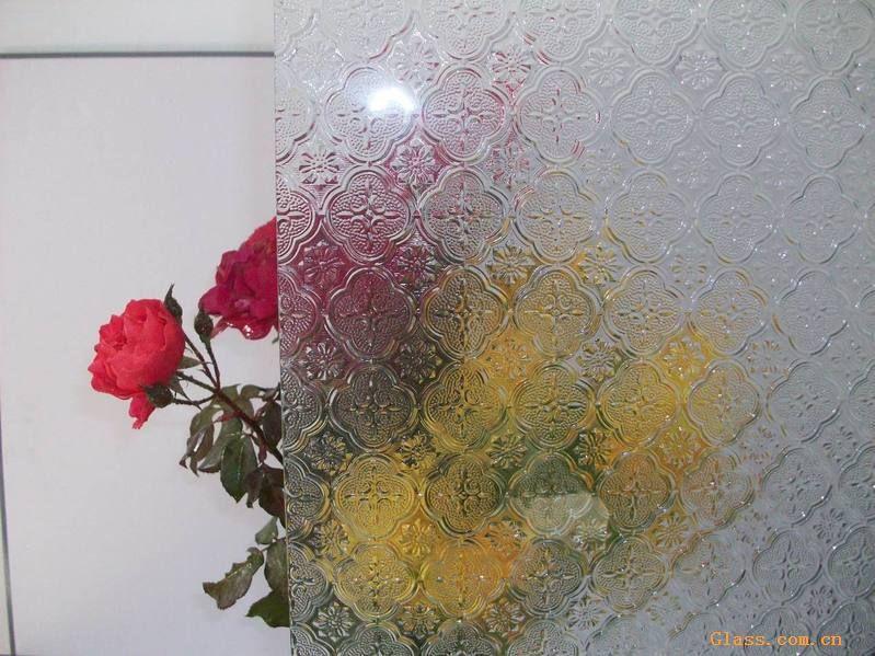 供应海棠花-压花玻璃-中国玻璃网