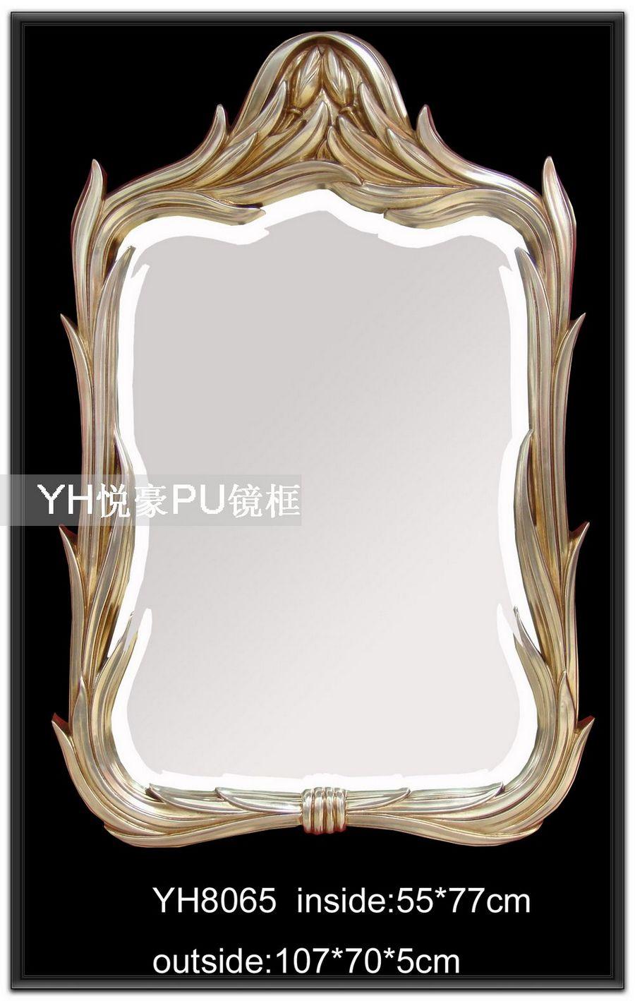 欧式卫浴柜镜框灰度雕刻图片