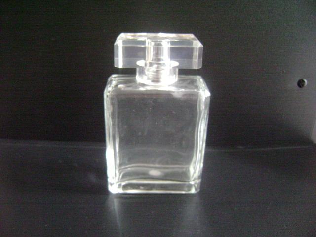 【80毫升透明方形香水瓶配沙林盖和喷头】报价图片