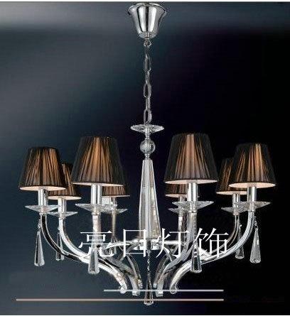 灯具经典铁艺水晶吊灯/蜡烛灯 现代欧式吊灯 美轮美奂