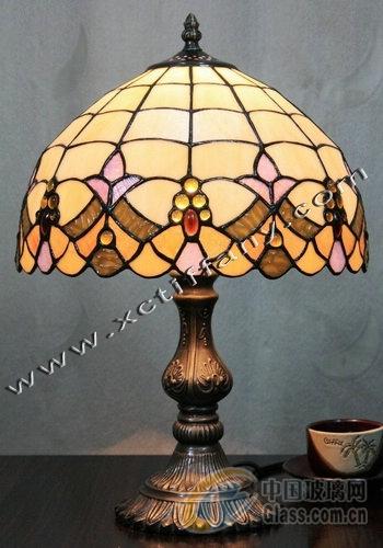 彩色玻璃台灯