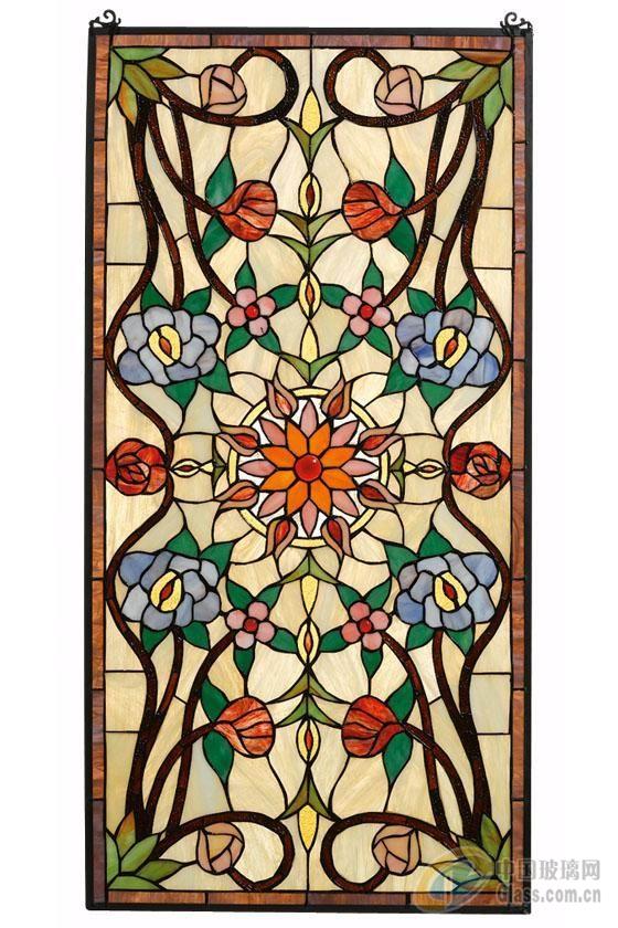 [图]玻璃挂饰 彩绘玻璃-产品图片-中国玻璃网; 欧式彩绘玻璃;