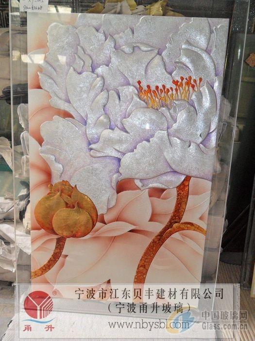 浙江宁波雕刻玻璃 宁波浮雕玻璃 图片