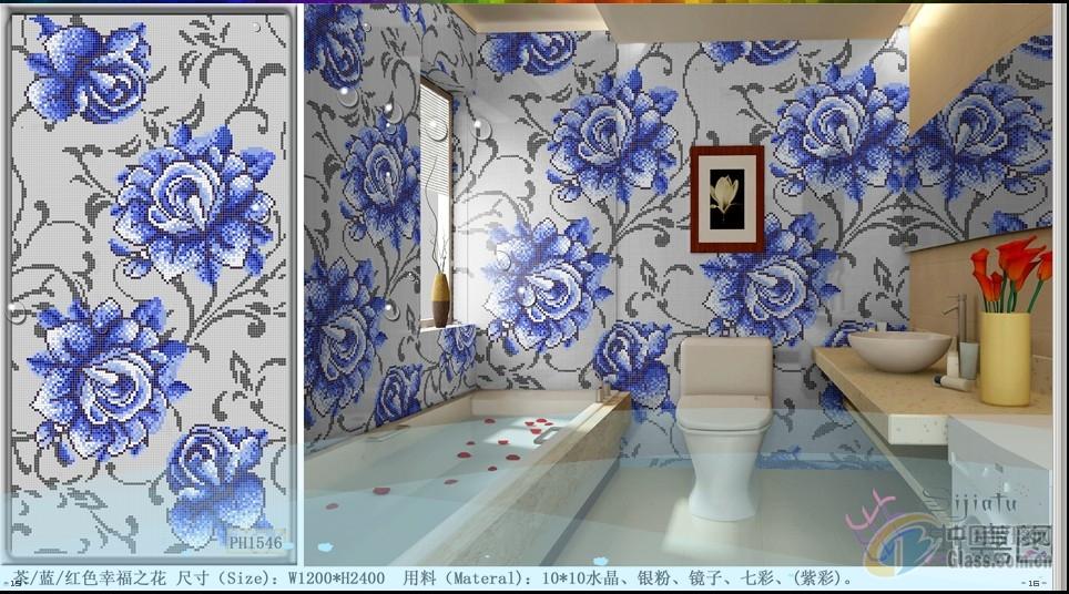 装饰玻璃 > 蓝花马赛克拼图背景墙  发布时间: 2015年01月14日 有效期