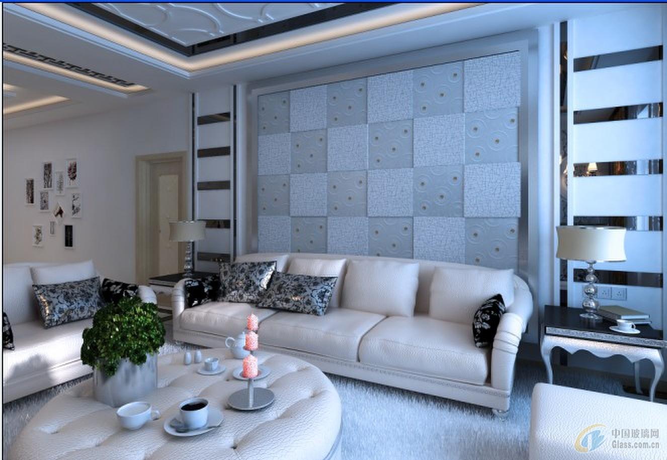 家装玻璃电视背景墙