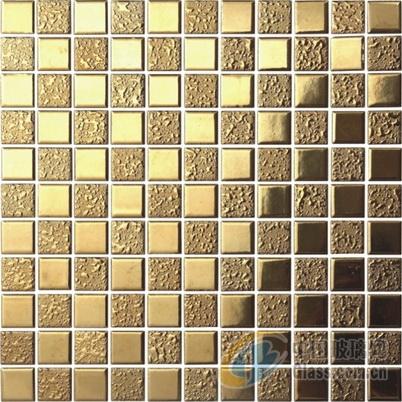 金色陶瓷马赛克别墅酒店店铺瓷砖