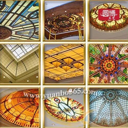 是欧美传统手绘镶嵌工艺制作而成 2014-03-29 欧式教堂彩绘玻璃穹顶