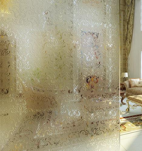 欧式凹蒙艺术玻璃隔断