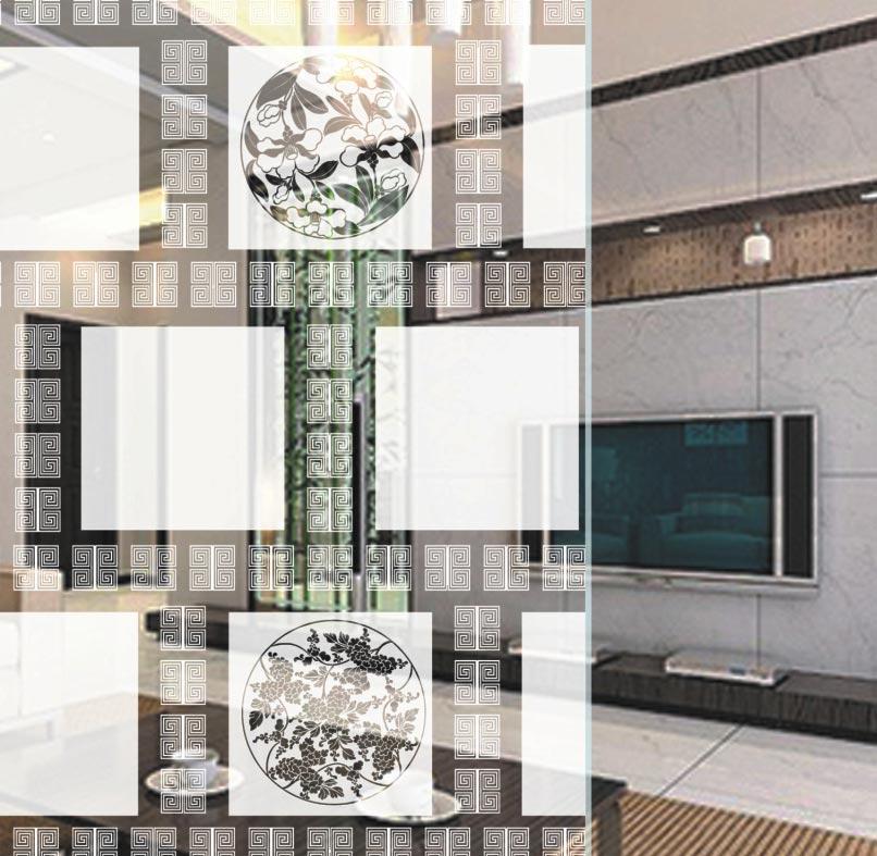 时尚知名家居客厅装饰艺术玻璃