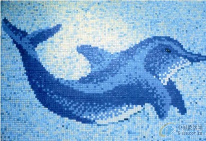 供应马赛克拼花 游泳池海豚拼图