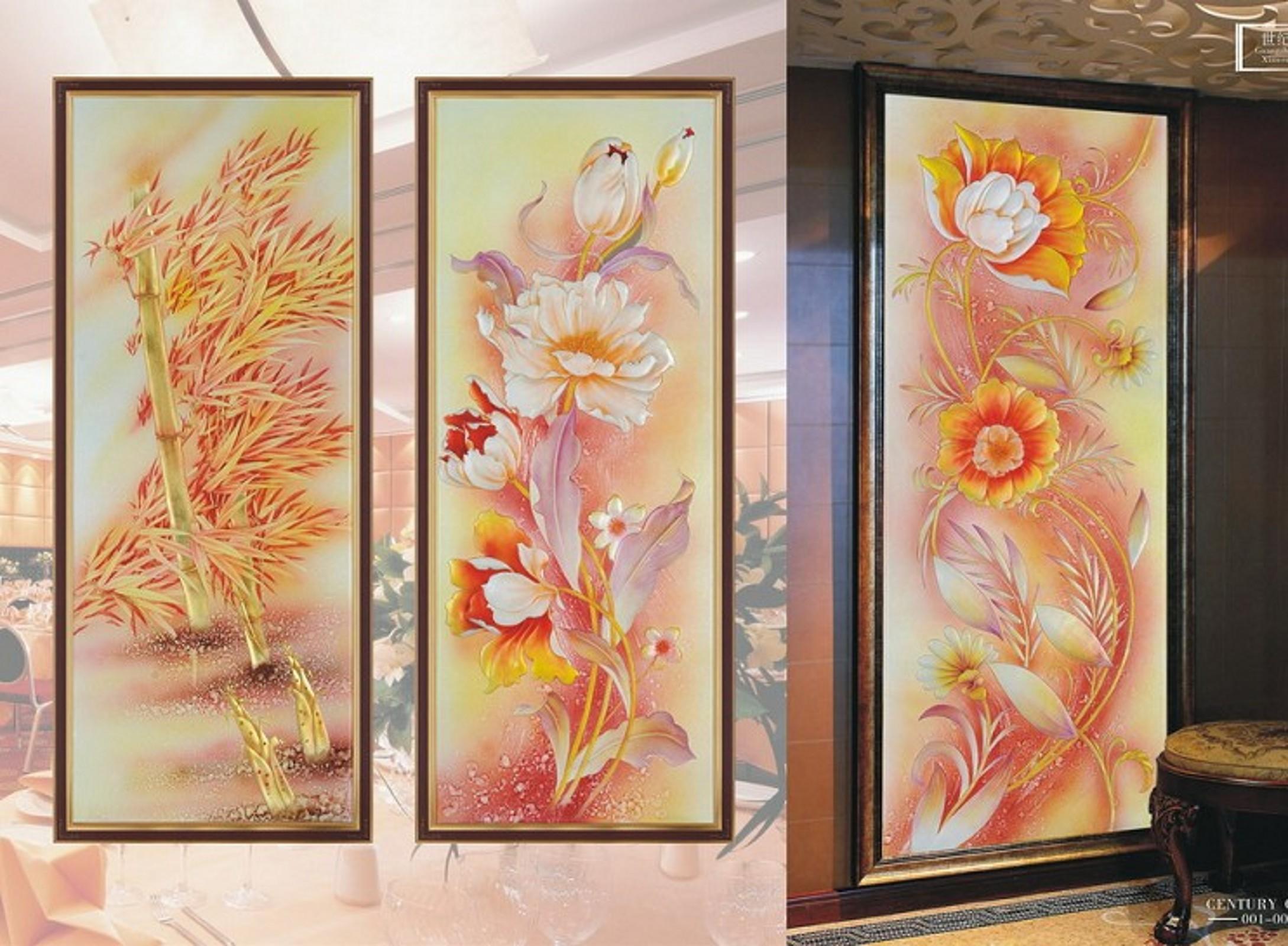 广州艺术玻璃艺术玻璃隔断玄关