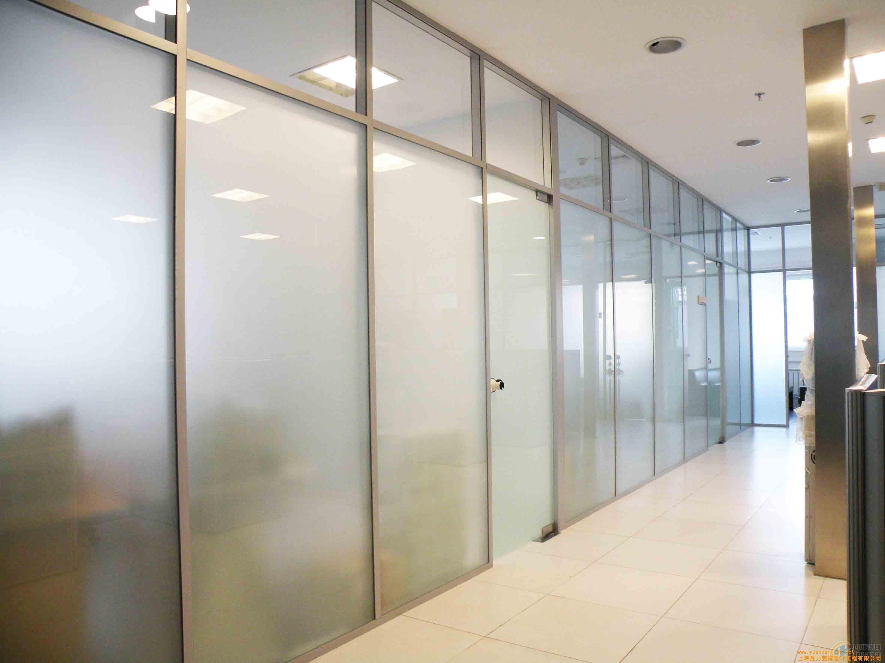 安装办公商场隔断家居玻璃隔断