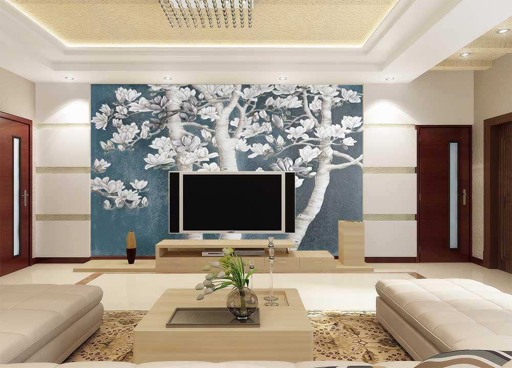 现代简约电视背景墙艺术玻璃
