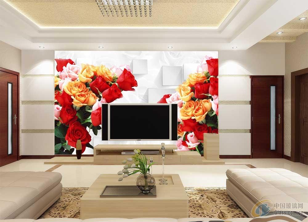 3d电视背景墙,安全彩釉-背景墙玻璃-中国玻璃网