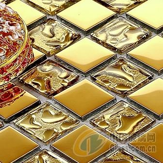 【供应欧式卫生间金色玻璃马赛克】报价_供应商_图片