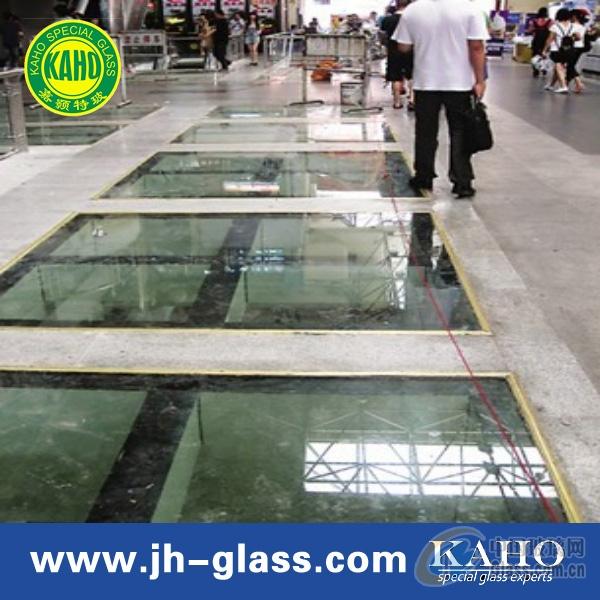 防滑透明玻璃地板
