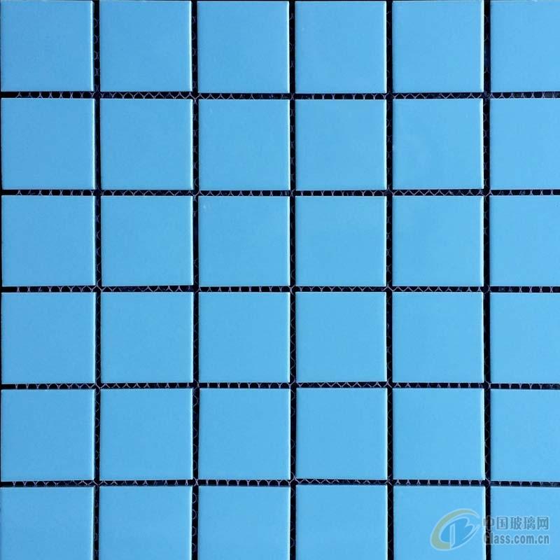 天蓝色游泳池马赛克