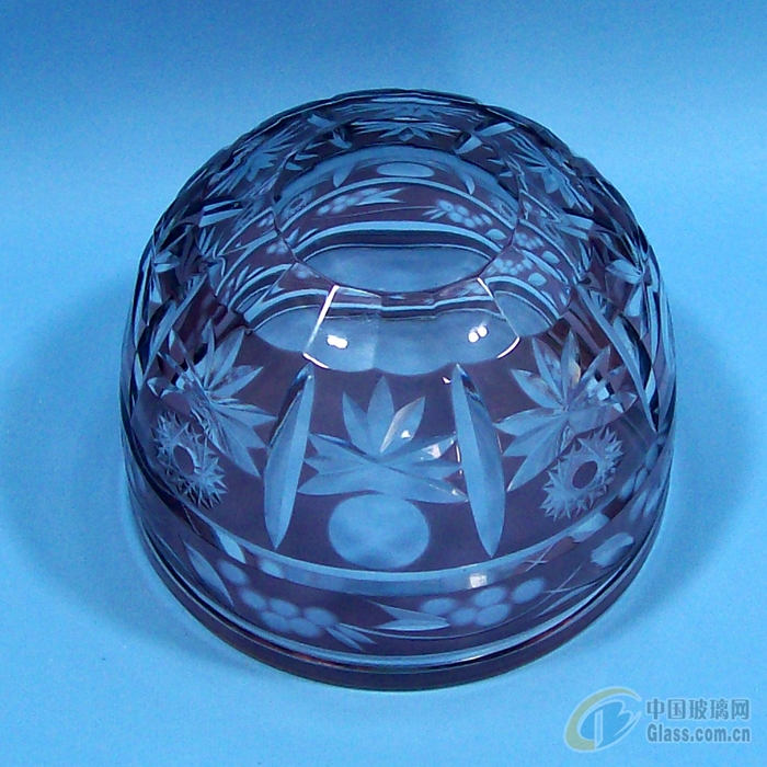 刻花玻璃杯碗水杯花瓶手工制作