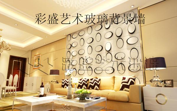 彩盛餐厅背景墙设计