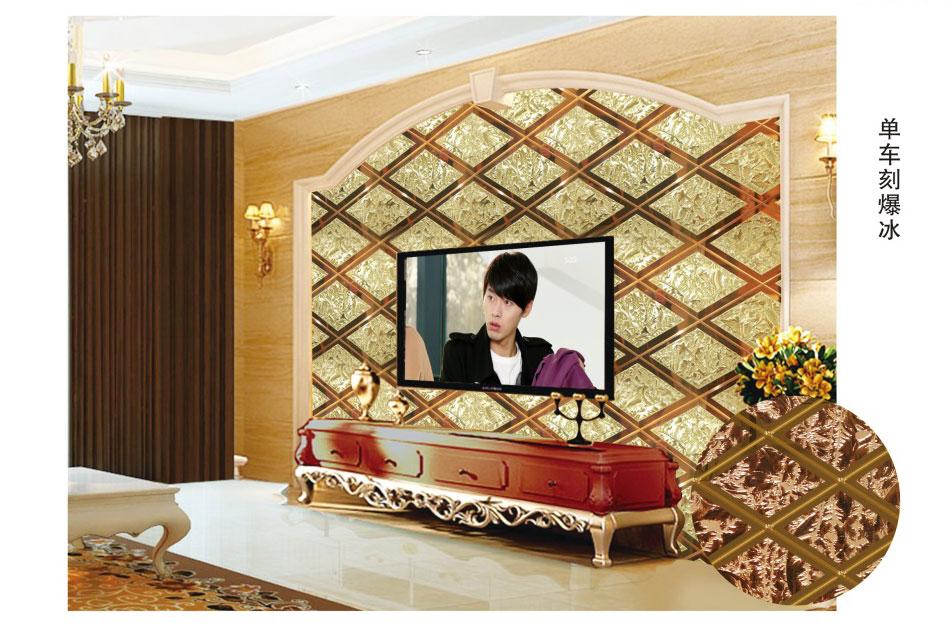 简装电视背景墙玻璃