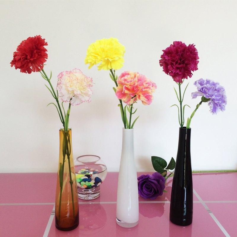 彩色透明插花玻璃瓶富贵竹小花瓶