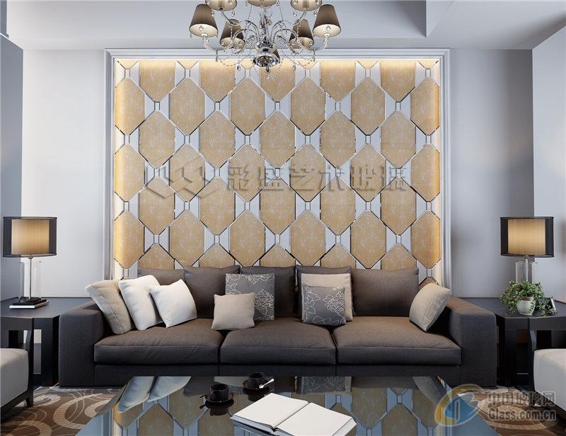 彩盛拼镜系列欧式风格电视墙