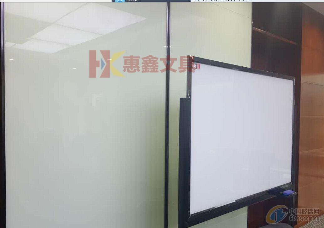 龙华木框玻璃白板.烤漆玻璃白板