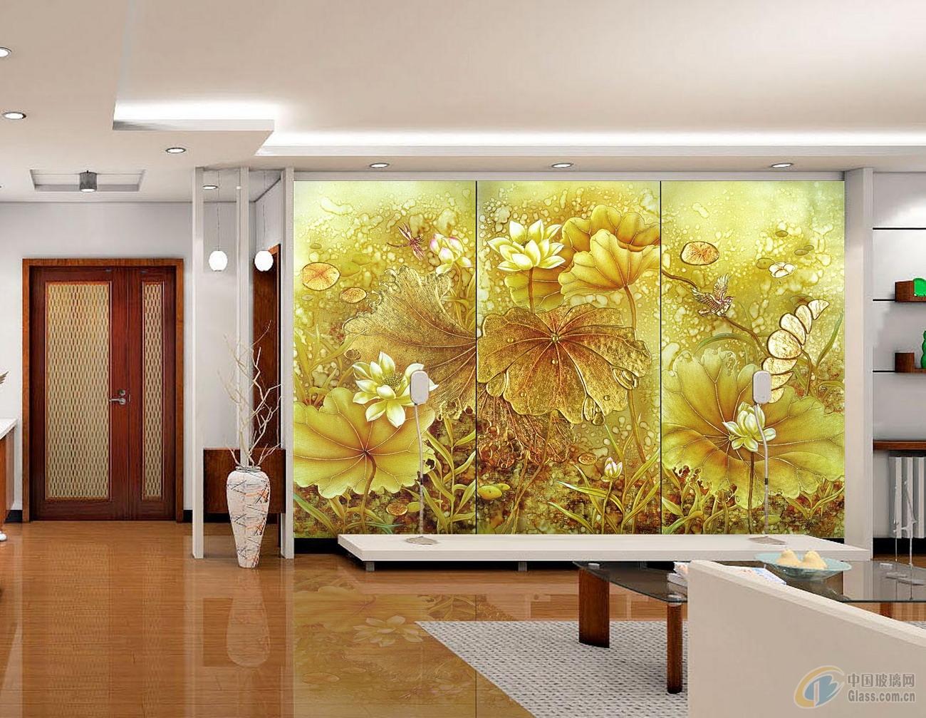 郑州电视背景墙艺术玻璃