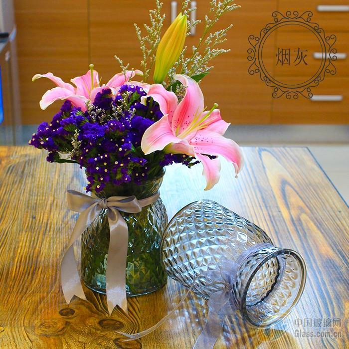 创意玻璃瓶喷色花瓶装饰瓶图片