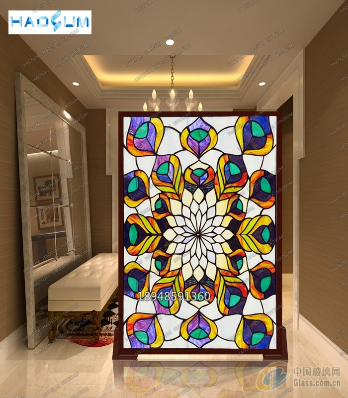 厂家直供定制欧式彩色玻璃门窗