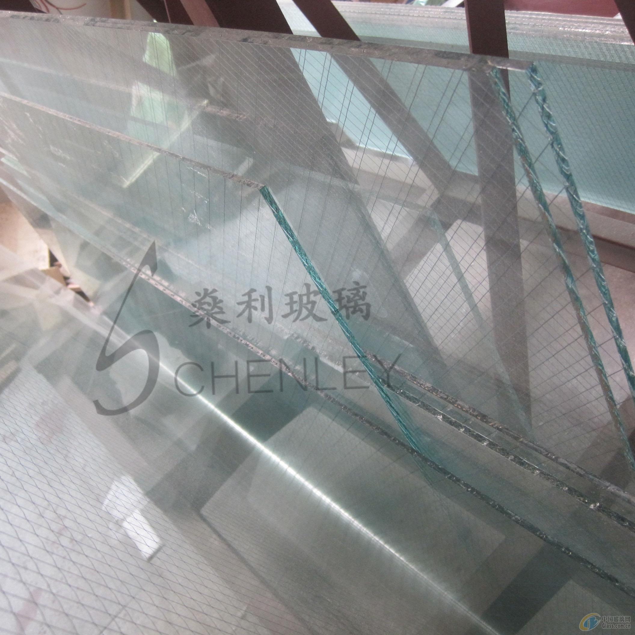 广州�隼�不锈钢丝网夹层防盗玻璃
