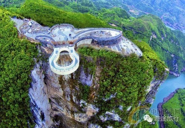 重庆武隆天坑玻璃眺台观景台