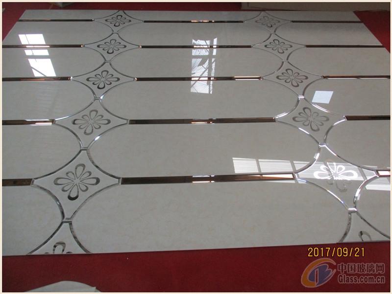 拼镜菱形镜边框客厅电视艺术玻璃