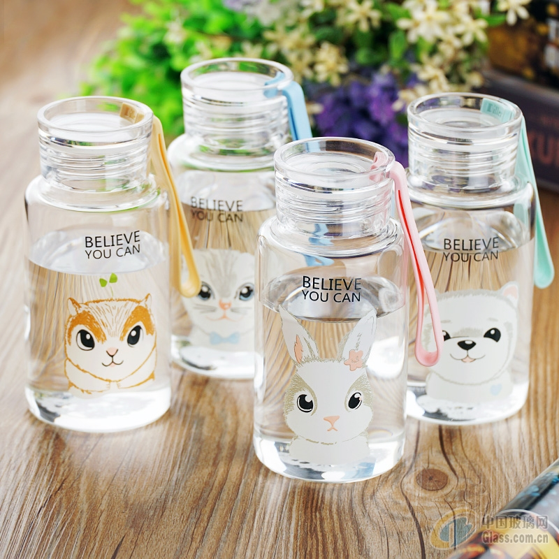 韩国简约可爱文艺小清新玻璃杯