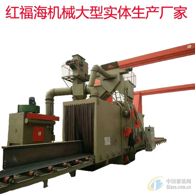 槽钢角铁除锈通过式抛丸机钢结构氧化皮处理喷砂机厂家