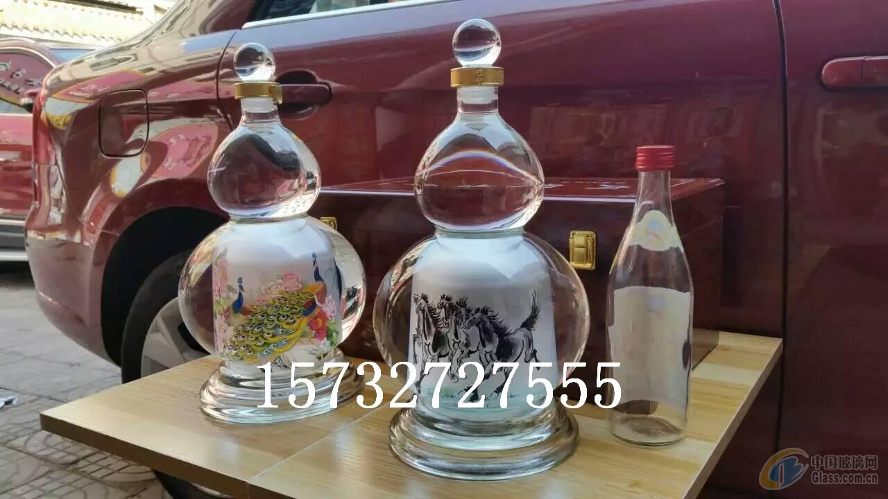 葫芦内画玻璃瓶创意手工玻璃摆件工艺内画摆件图片