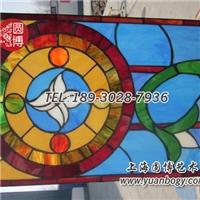 彩绘玻璃穹欧式复古教堂色彩圆博工艺