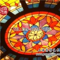 彩绘玻璃穹顶欧式风格别墅穹顶圆博工艺