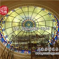 彩绘玻璃穹顶高端定制新颖个性圆博工艺