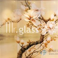 艺术玻璃背景墙 玉玲珑