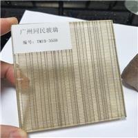 广州供应夹金属丝玻璃 夹丝钢化玻璃