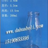 厂家直销200ml饮料瓶, 果汁瓶,果醋瓶,果茶玻璃瓶