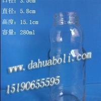 280ml饮料玻璃瓶 果汁瓶 果醋瓶 定做饮料瓶