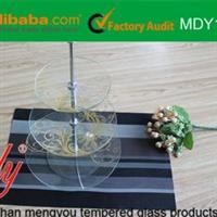 供应钢化玻璃多层套盘/优质孟友玻璃盘