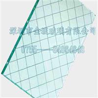 进口菱形格夹丝玻璃