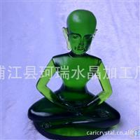 立体雕刻水晶琉璃工艺品