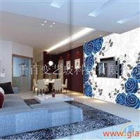 百变艺术玻璃背景墙
