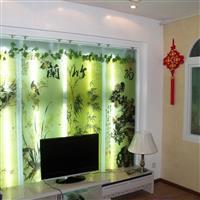 强化艺术玻璃背景墙