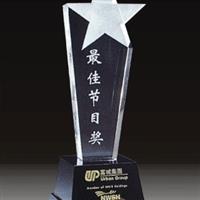 供应广州五角星水晶奖杯