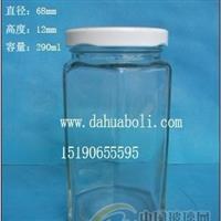 290ml六角蜂蜜玻璃瓶 徐州玻璃瓶生产商 配套瓶盖